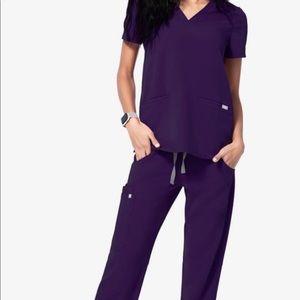Figs Other - FIGS purple scrubs M top L bottom